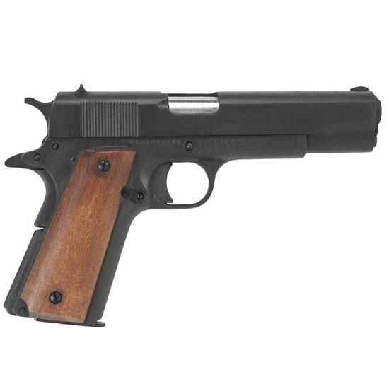 Rock Island Armory 1911 Semi Auto Handgun 9mm Luger 5 Barrel 9 Rounds Steel Parkerized Wood Grips