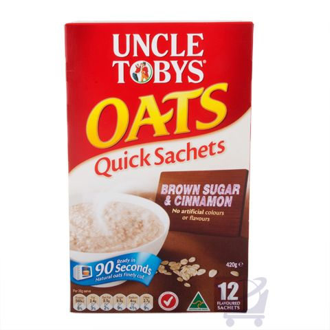 Uncle Tobys Quick Oats Brown Sugar & Cinnamon – Uncle Tobys 420g | Shop Australia
