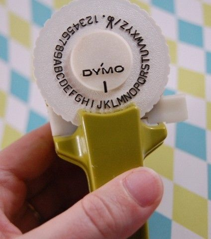 Dymo label maker (from the 1970s?)
