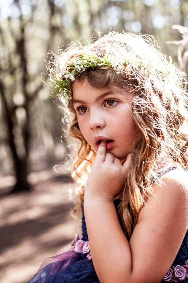 Flowergirl with her Crown.