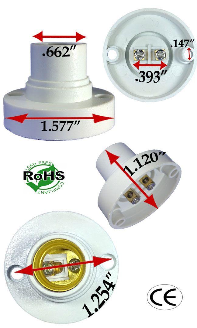 E14 Female Surface Mount Holder Socket Sockets Ledlight Led Light Bulb Sockets Surface