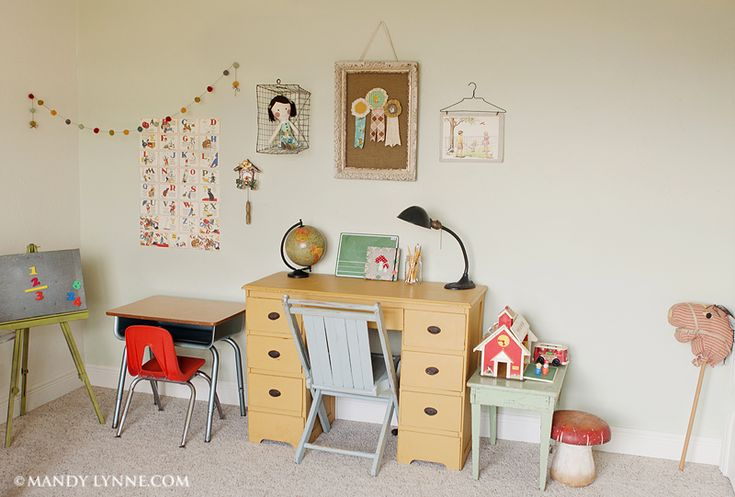 Vintage school room - such a sweet collected space - @Michelle Flynn Flynn Travis for you!