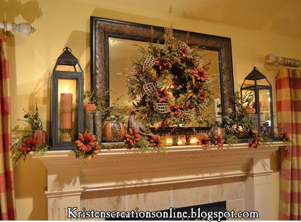 18 Fall Mantel Ideas Youu0027re Going to Love! | Decorating Files |  DecoratingFiles