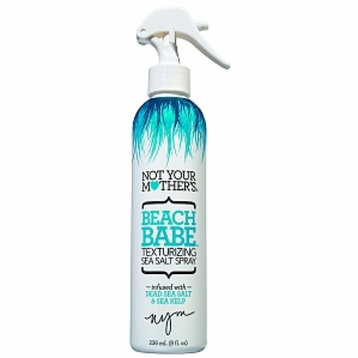 A few sprays of this product gives you beach hair in no time! Not Your Mothers Beach Babe Texturizing Sea Salt Spray, $5.99, ulta.com