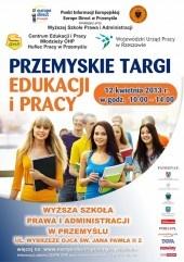 Targi odbędą się 12 kwietnia 2013 r. w godz. 10.00 – 14.00    w Wyższej Szkole Prawa i Administracji w Przemyślu  ul. Wybrzeże Ojca Świętego Jana Pawła II 2  http://www.europedirect-przemysl.wspia.eu/targi