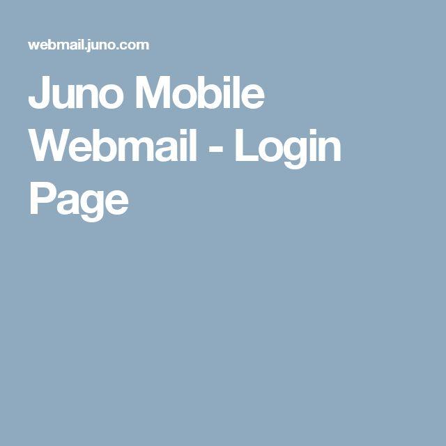 Juno Mobile Webmail - Login Page