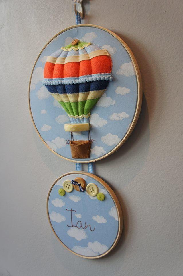 Quadro Maternidade Bastidor Duplo Balão