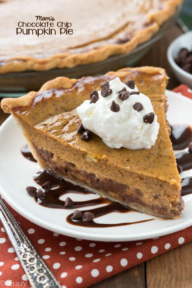 Chocolate Chip Pumpkin Pie | Recipe | Traditional, Mini chocolate ...