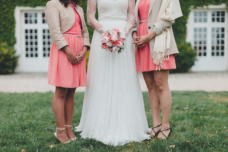 Bouquet de mariée corail et rose