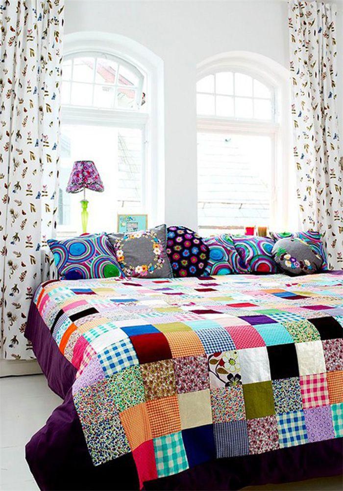 Una colcha de patchwork preciosa