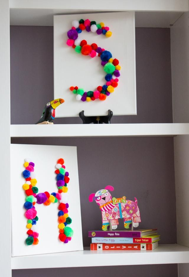 ––––– m u s t t r y t h i s ≠≠≠≠ DIY wall decoration idea for kids / Fiche créative: Tableau Pompon