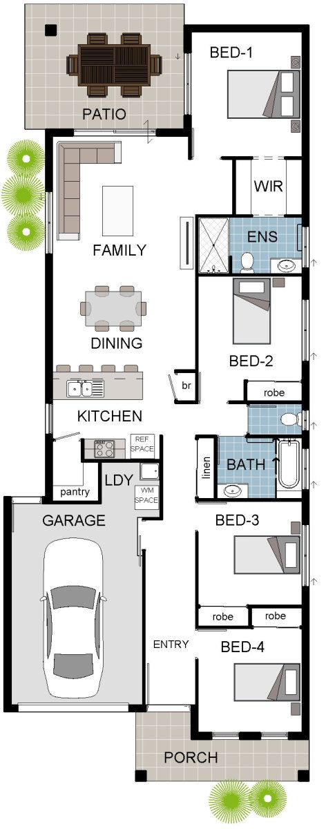 68 best house floorplans images on pinterest house design house cascade 1 floorplan design download brochure property features 4 bedrooms 2 malvernweather Gallery
