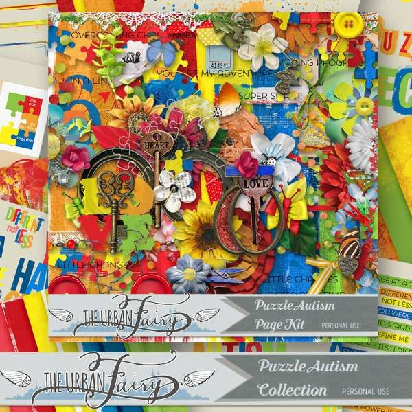 Digital Art :: Bundled Deals :: Puzzle Autism { Collection }