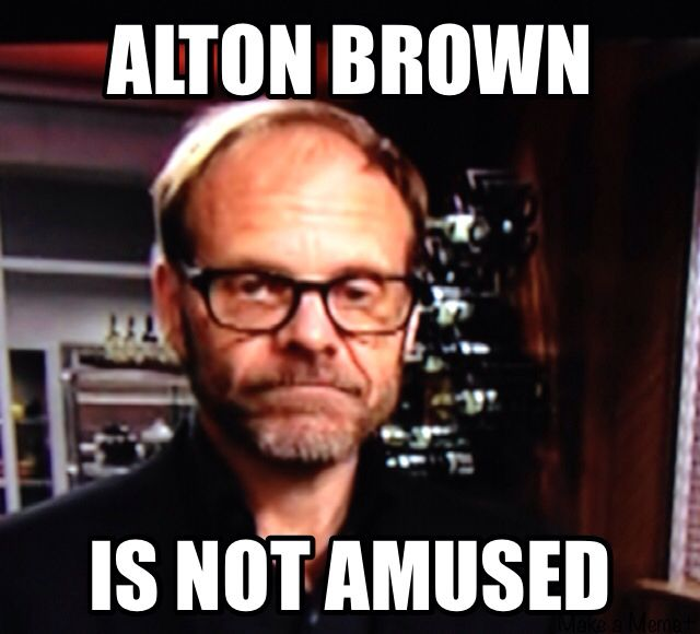 Watching cutthroat kitchen when PERFECT MEME appears