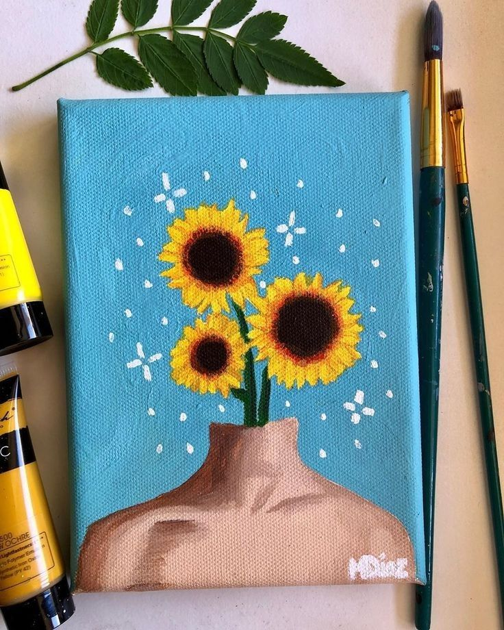 Pin By Can D On Atelie De Pintura Cute Canvas Paintings Hippie Painting Diy Canvas Art
