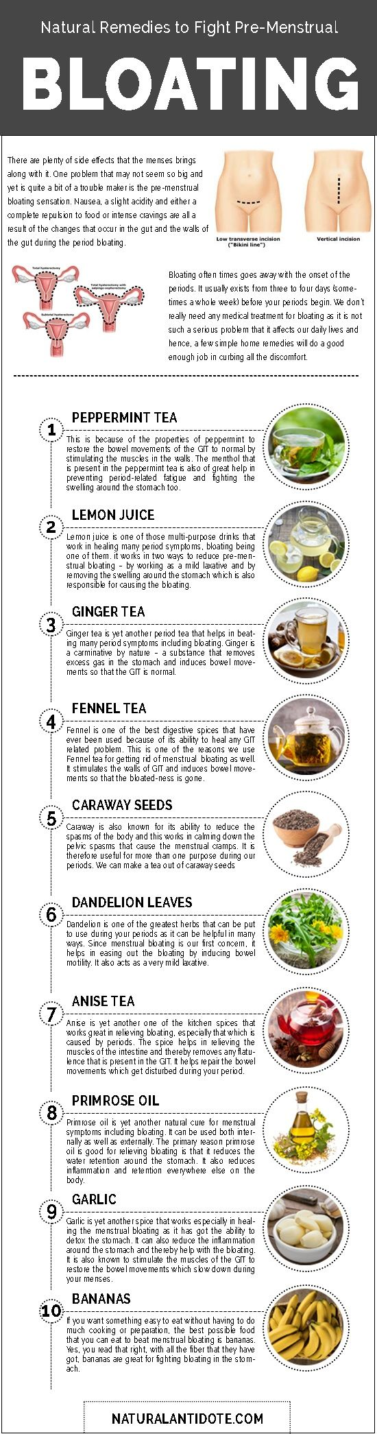 10 Easy-to-Make Natural Remedies to fight Pre-menstrual Bloating