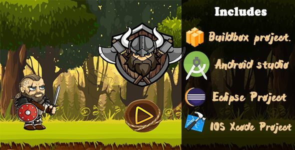 Download Viking super adventure  ( BBDOC + Android Studio + Eclipse + Xcode ) Nulled Latest Version