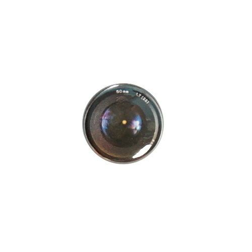 "Camera Button Lens Pin Cheap Photographer Gift Pinback 1"" Awesome"
