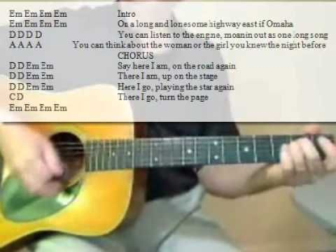 2 minute song lesson learn the Chords and the Strum Pattern to play along with Turn the Page by Bob Seger.