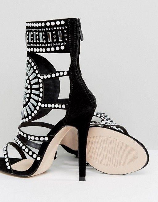 5d33fc05792 Public Desire Cleopatra Embellished Heeled Sandals