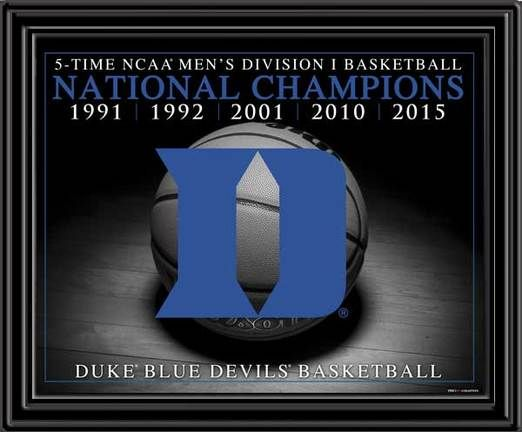 Duke Basketball 2015 NCAA National Champions Framed Picture