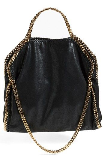 Stella McCartney 'Falabella' Metallic Faux Leather Foldover Tote available at #Nordstrom