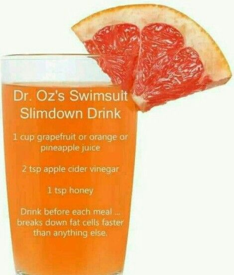 Dr. Oz's swimsuit slim down drink.