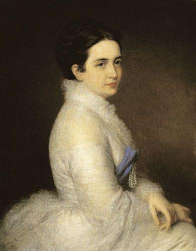 Barabás, Miklós Mrs. István Bittó  1874 Oil , Canvas  84,5 x 66,5 cm  Inv.: FK1814