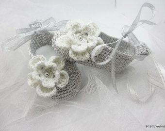 Crochet baby sandals baby sandals crochet baby por BUBUCrochet