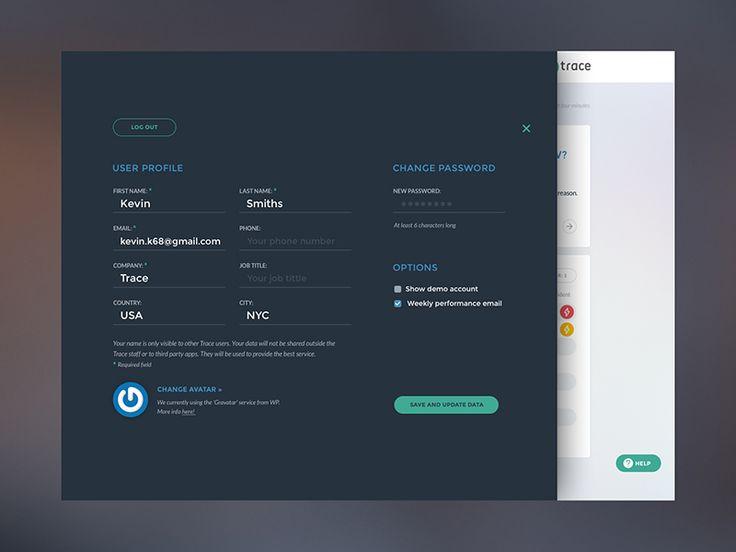 Trace  UI Redesign / Profile