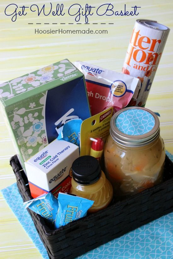 It's cough, cold and flu season - so have these get well gift baskets on handy for your family and friends! All products available at Walmart.
