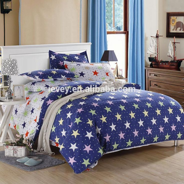 Top Quality Fancy Sky And Stars Pattern Kids Favorite 100% Cotton Bed Sheets  Manufacturers In