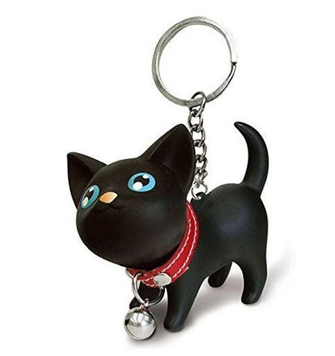 Those eyes! Our Kawaii Cat Keychain will hit you right in the feels! This beautiful bright eyed black kitty cat, complete with red collar and tiny bell will love going everywhere with you!