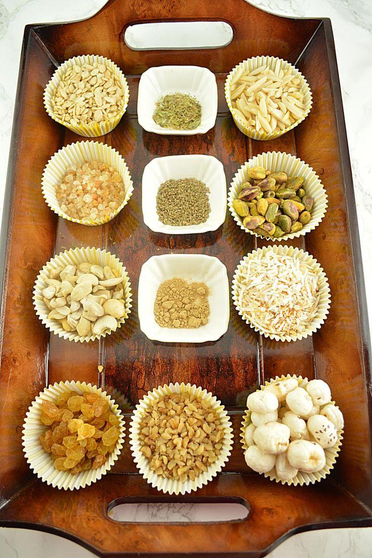 Panjiri Recipe, step by step panjiri recipe, Panjeeri recipe, how to make punjabi panjiri recipe, Panjiri For Post Delivery Moms, panjiri for new mothers