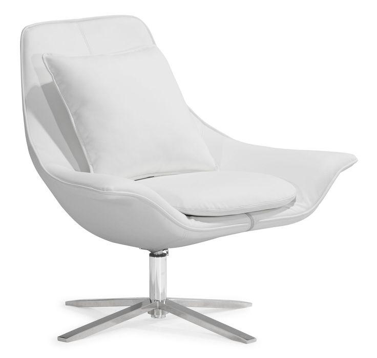 modern white lounge chair. Vital Lounge Chair. Easily Relax With The Chair And Ottoman. Plush Foam Modern White