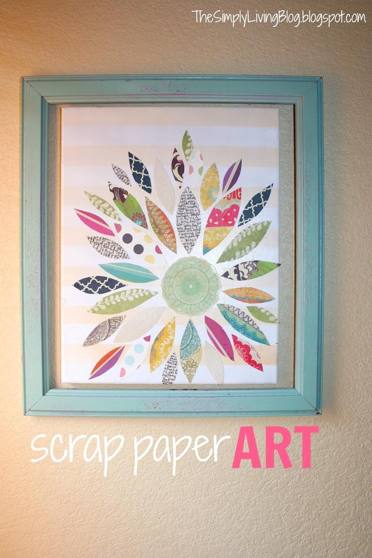 Simply Living: paper scraps art