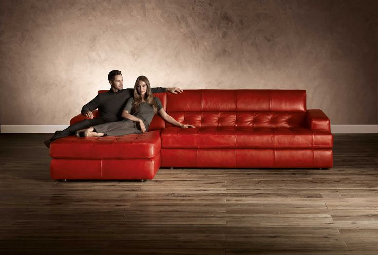 Natuzzi editions italian leather furniture and leather for Natuzzi red leather sectional sofa