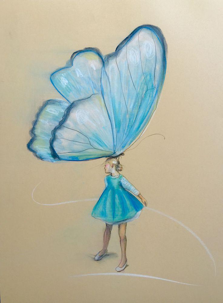 """""""Piruett"""" 64 x 46 cm © frihåndstegning pastellkritt"""