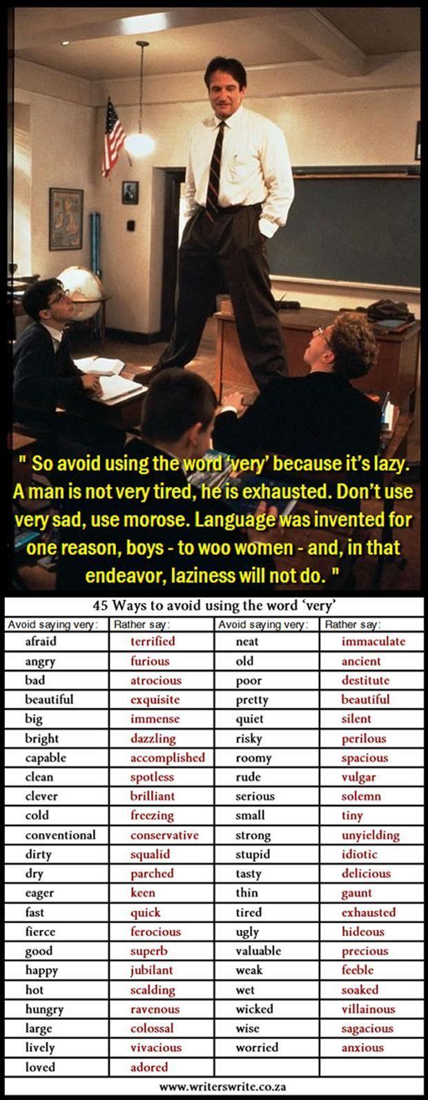 No more banal language!