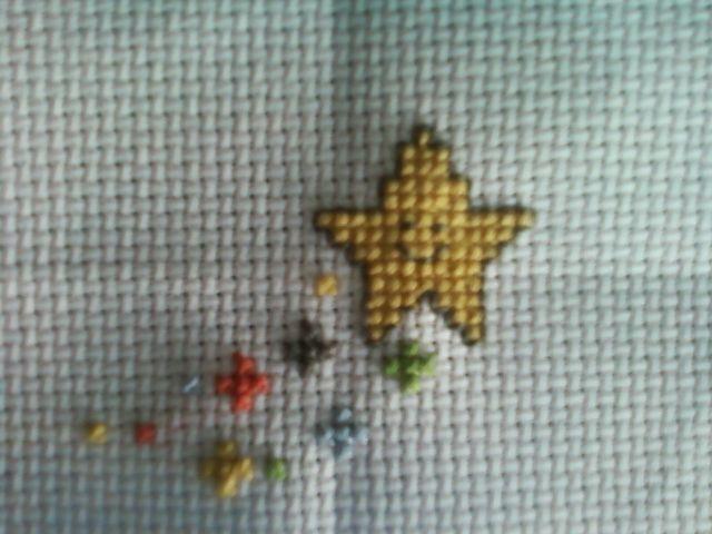 estrella star cross stitch punto de cruz