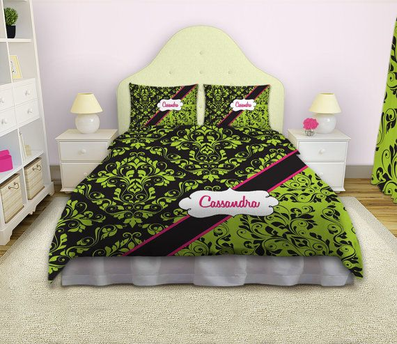 Green Duvet Cover Green Bedding Sets by EloquentInnovations