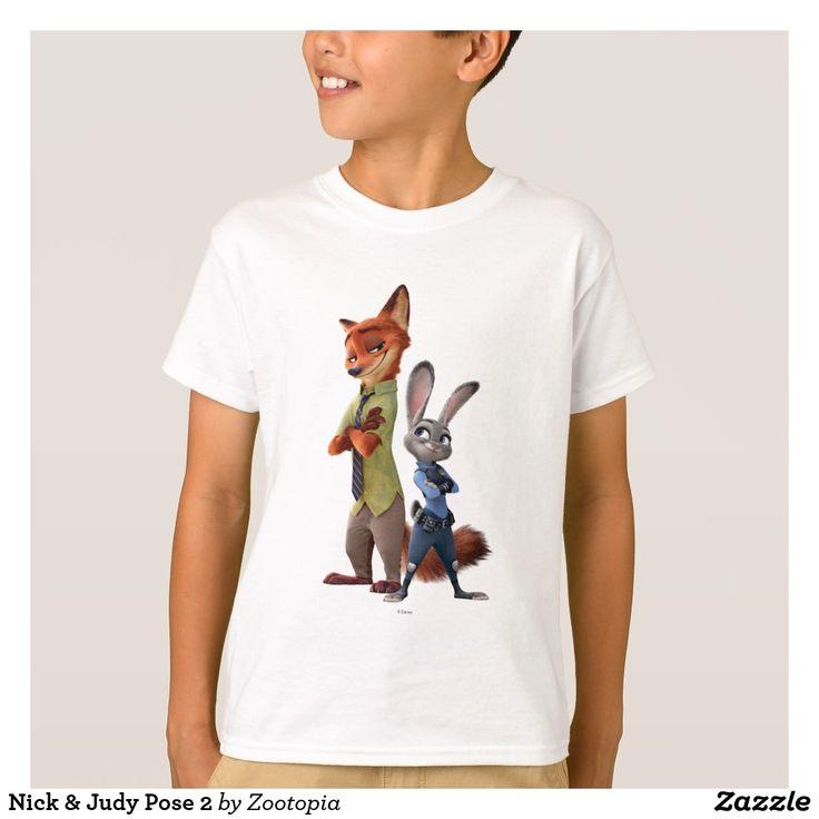 Nick & Judy Pose 2. Producto disponible en tienda Zazzle. Vestuario, moda. Product available in Zazzle store. Fashion wardrobe. Regalos, Gifts. Trendy tshirt. #camiseta #tshirt