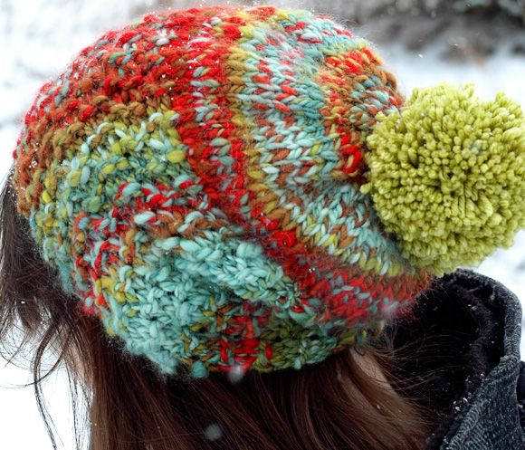 Super cute, fast, and easy! Great for a first hat project for a beginner.