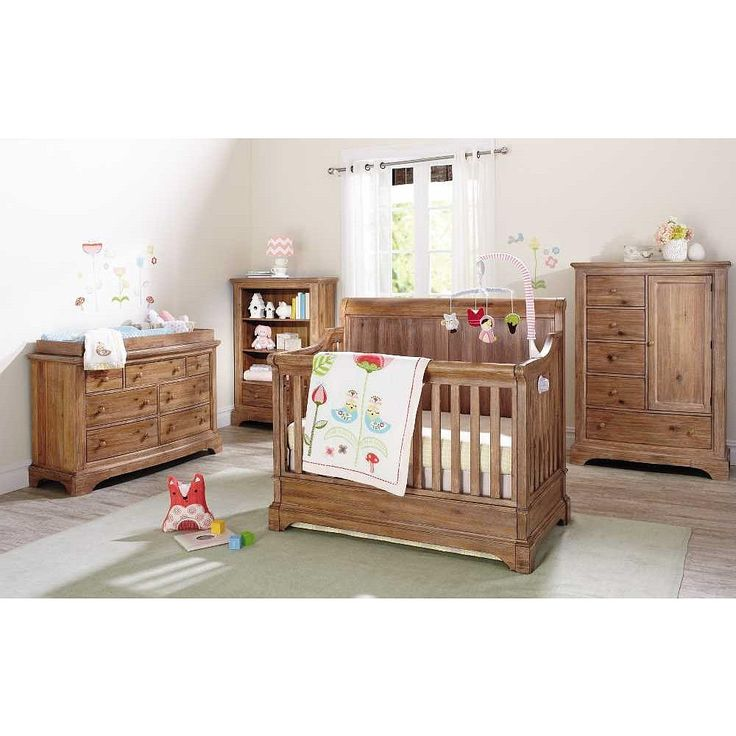 Bertini Pembrooke 4 In 1 Convertible Crib Natural Rustic Rustic Wood Wood Nursery And
