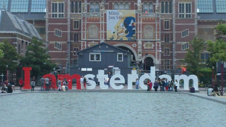 Outside Van Gough, Museumplein - Amsterdam