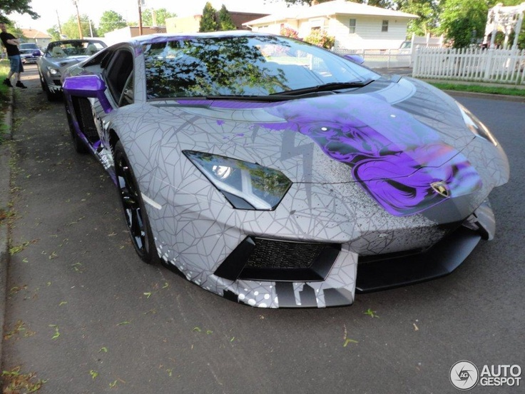 El Aventador del Team Galag en la Gumball 3000.   Drooling over this.: Aventador Team, Aventador Del, Design Innovation, Fuerza Implacable, Gumball 3000, Purple Passion, Galag, Del Team, Lamborghini Aventador