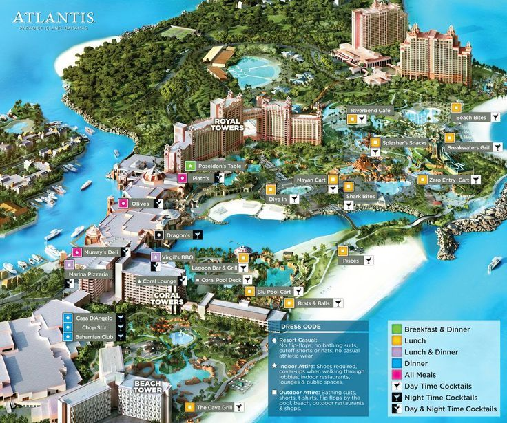 Atlantis Resort Map Map of Atlantis Paradise Island | Travel in 2019 | Atlantis