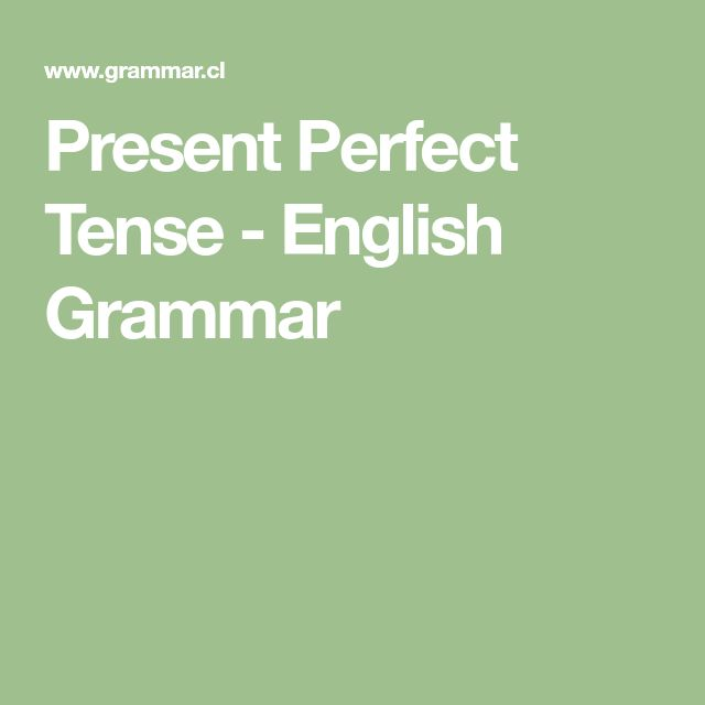 Present Perfect Tense - English Grammar