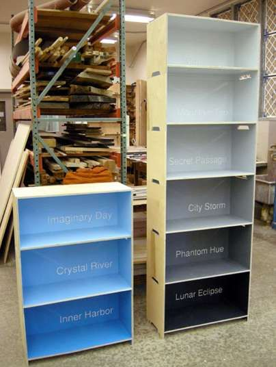 Clever Color Swatch Shelving