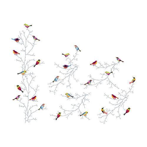 IKEA - SLÄTTHULT, Décorations adhésives, Les autocollants décoratifs vous permettent de renouveler facilement une pièce sans passer par la case peinture ou papier peint.Motif créé par Sandra Jacobs.